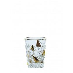 Tumbler glasses Glacier- golden 2 pcs or 6 pcs
