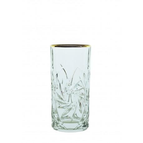 Long drink glasses Pinwheel- golden