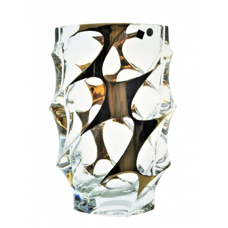 Skleněná dekorační váza Calypso- zlato