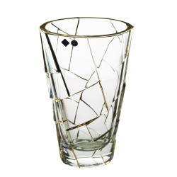 Glass vase Crack- gold