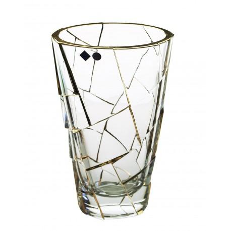 Glass vase Crack- gold
