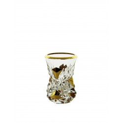 Small glass vase Glacier- gold