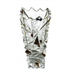 Skleněná dekorační váza Glacier- zlato