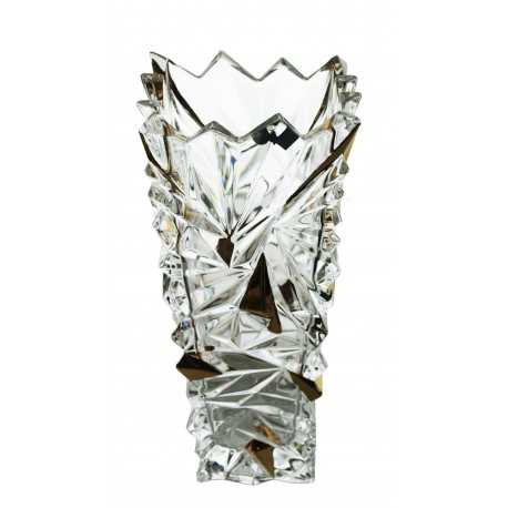 Glass vase Glacier- gold