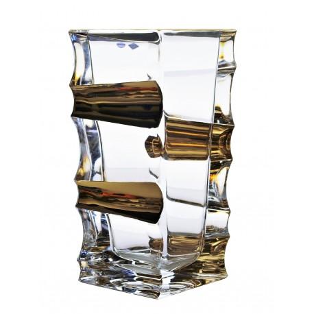 Skleněná dekorační váza Sail- zlato