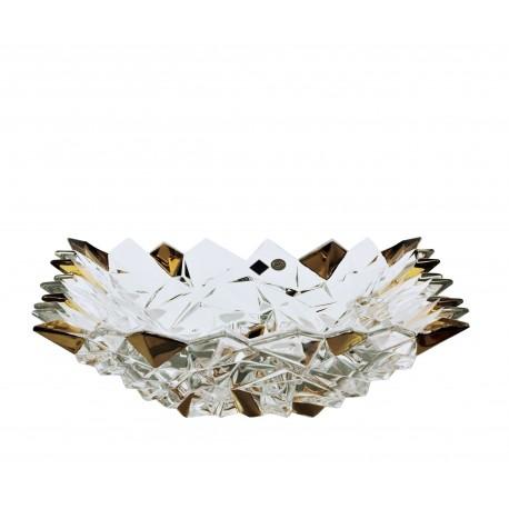 Glass bowl Glacier- gold