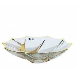 Glass bowl Calypso- gold