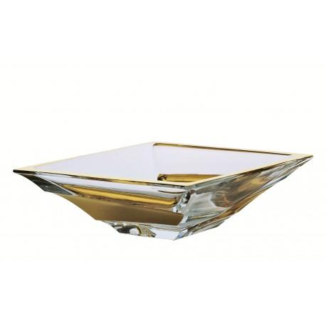 Glass bowl Sail 380 mm- gold