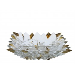 Glass bowl Glacier snack- gold