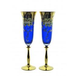 Flutes 2 pcs- golden, enamel