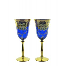 Wine 2 pcs- golden, enameled