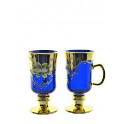Coffee 2 pcs- golden, enameled