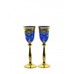 Liquer 2 pcs- golden, enameled