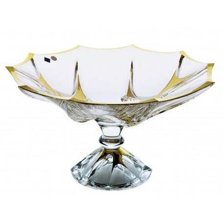 Glass vase Calypso- gold