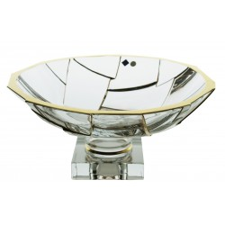 Glass bowl Glacier- gold