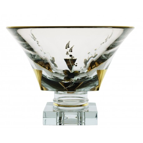 Glass bowl Triangle- gold