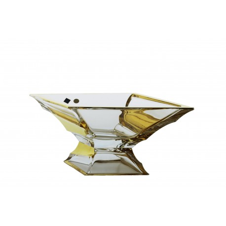 Glass bowl with foot Sail 380 mm- gold