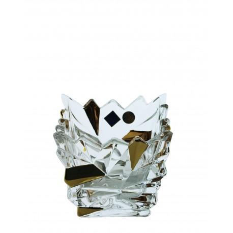 Candlestick Glacier votive- golden