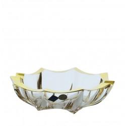 Crystal ashtray- golden