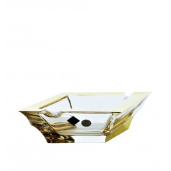 Crystal ashtray Sail- golden