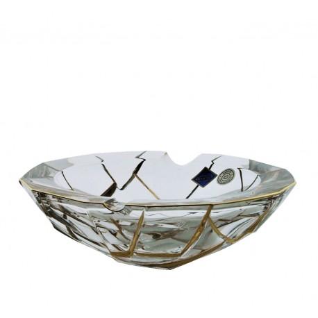 Crystal ashtray Crack- golden
