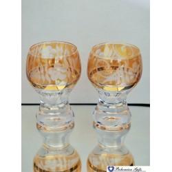 Listrované skleničky Gina 2 ks