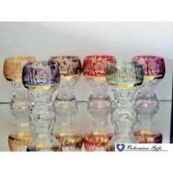 Listrované skleničky Gina 6 ks