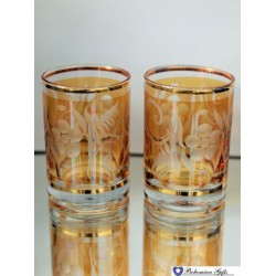 Listrované skleničky Favorit 2 ks