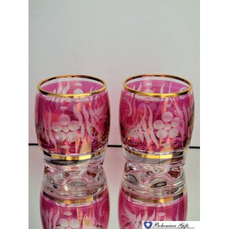 Listrované skleničky Soudek 2 ks