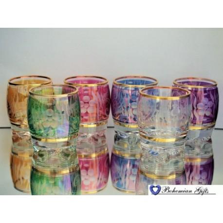 Listrované skleničky Adora 6 ks