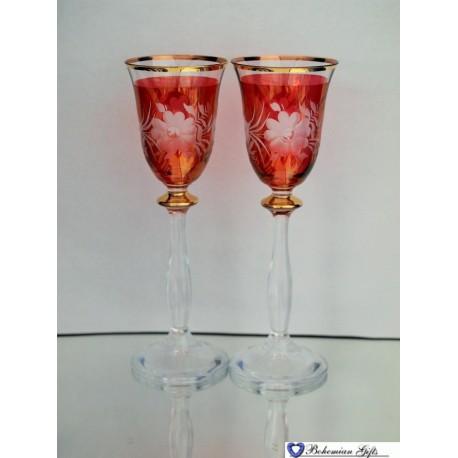 Listrované skleničky Angela 2 ks