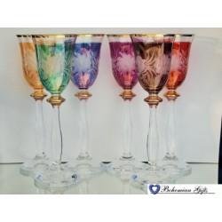 Listrované skleničky Angela 6 ks