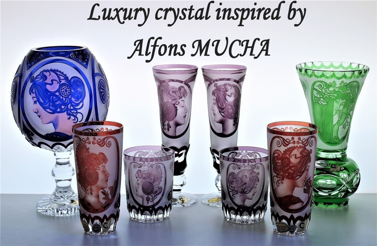 Luxury glass MUCHA design